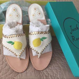 Jack Rogers Lemon Sandals Rare Exclusive New NIB